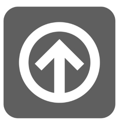 Direction up flat squared icon vector