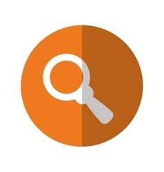 Magnifying glass thumbnail icon image vector