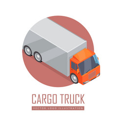 Truck icon in isometric projection vector