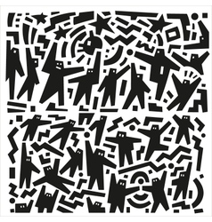 people abstract vector image