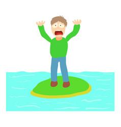 hydrophobia concept cartoon vector image