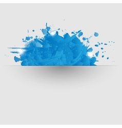 Abstract background with blue paint splashes vector image
