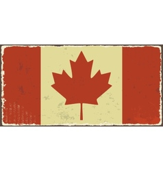 Canadian grunge flag vector image