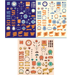 Set of the design elements vector