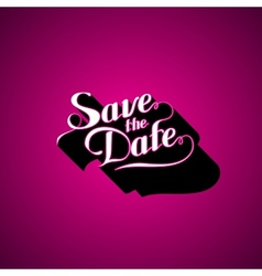 Save the date retro label vector