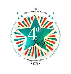 4 july card vector