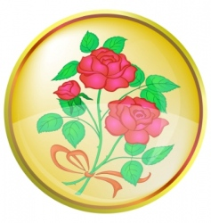 button red rose vector image