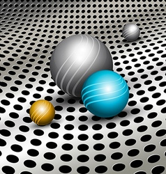 Abstract technology background with balls vector