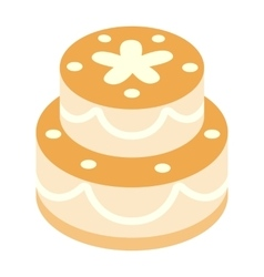 Birthday cake isometric 3d icon vector