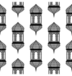 Seamless of ramadan lantern vector