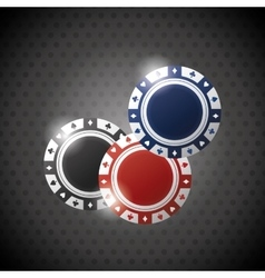 Poker design game and chips concept  casino vector