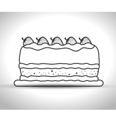 Delicious cake isolated icon design vector