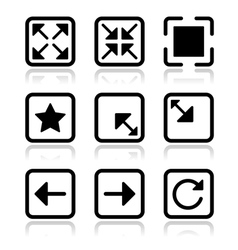 Website navigation icons set vector image