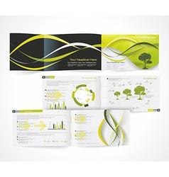 Blank catalog horizontal format corporate brochure vector