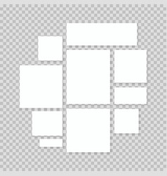 blank white paper vector image