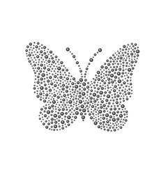 Butterfly in black design vector