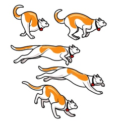 Cat running fast sprite vector