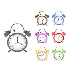 colorful retro alarm clock vector image
