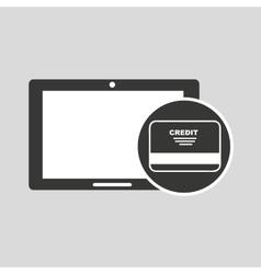 Concept money tablet digital graphic vector