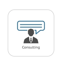 Consulting Icon Business Concept Flat Design vector image vector image