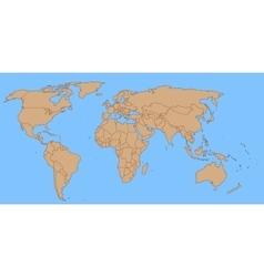 Contour world map vector