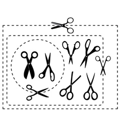 Cutting scissors and coupon vector