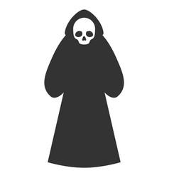 Death hood man flat icon vector