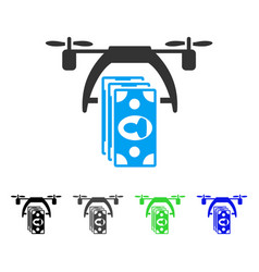 drone payment flat icon vector image