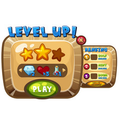 Game background template for level up page vector