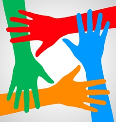 Hands of friendship vector image vector image