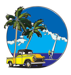 hawaiian badge vector image