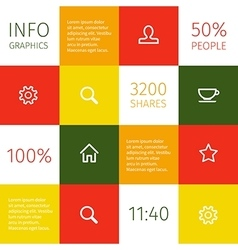 infographic concept design vector image vector image