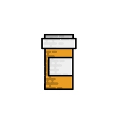 Medical flat icon pills vector