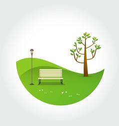 Minimal park natural landscape vector