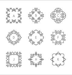 Monogram collection vector