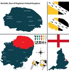 Norfolk east of england vector