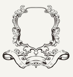 Of Decorative Frame And Banner vector image vector image
