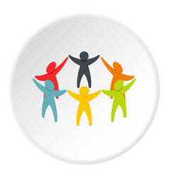 People connecting icon circle vector
