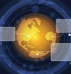 radar scan global vector image vector image