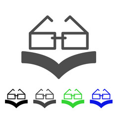 Reading glasses flat icon vector