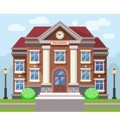 School or university building flat vector