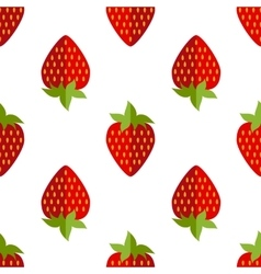 seamless of flat strawberries vector image