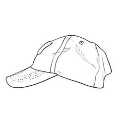 Sketch cap template vector