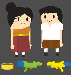 Thailand songkran festival character vector