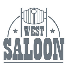 west saloon logo vintage style vector image vector image