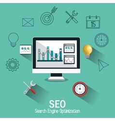 Search engine optimitation success business vector