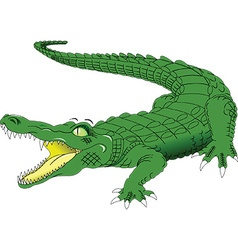 Cartoon crocodile vector