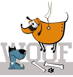dogs smile vector image