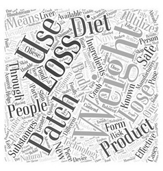 Weight loss patch word cloud concept vector