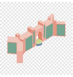 Gate in dubai isometric icon vector